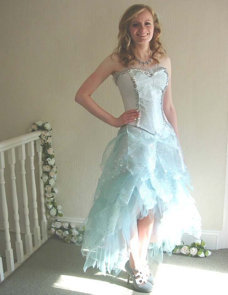 Custom made tinkerbell alternative wedding reception dress for Fairy themed wedding dresses