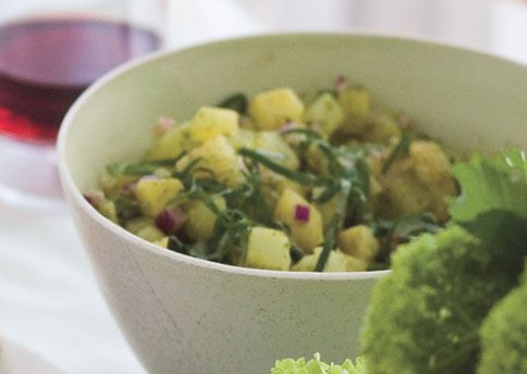 Potato Salad with Basil Oil Recipe from Bon Appétit. Great over ...