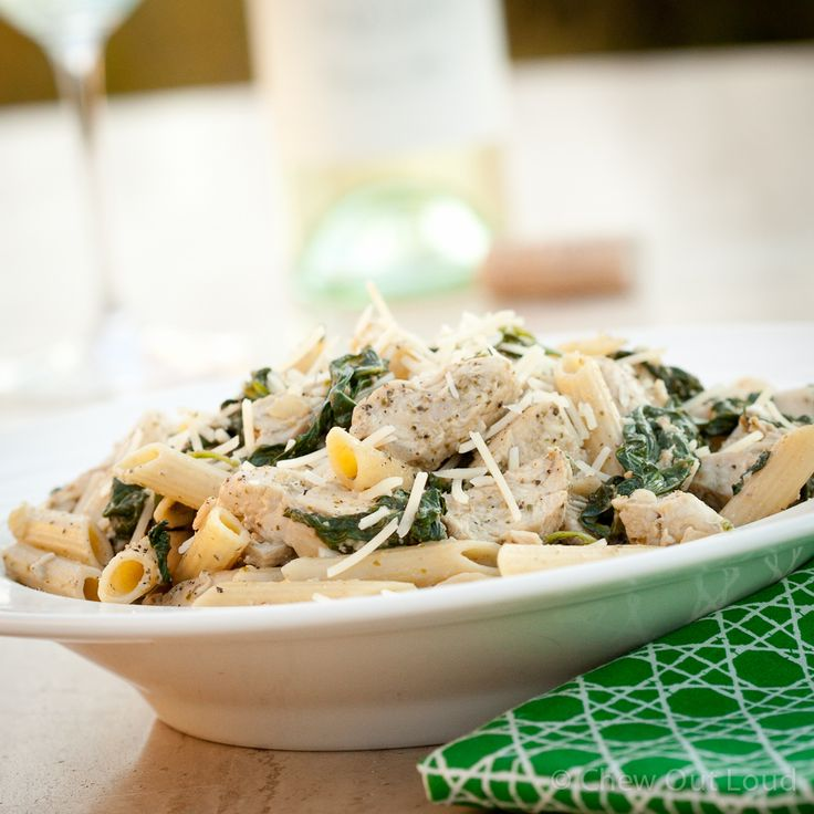 Chicken Florentine Pesto Pasta - Chew Out Loud