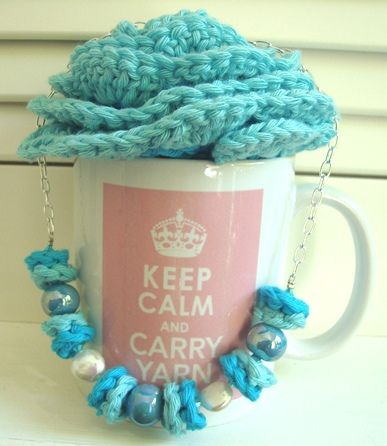 tutorial crochet necklace Knitting & Crochet Pinterest