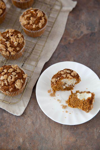Lighter Pumpkin Cream Cheese Muffins //annies-eats.com
