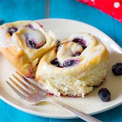 Blueberry Sweet Rolls with Lemon Glaze | Cinnamon/Sweet Rolls | Pinte ...