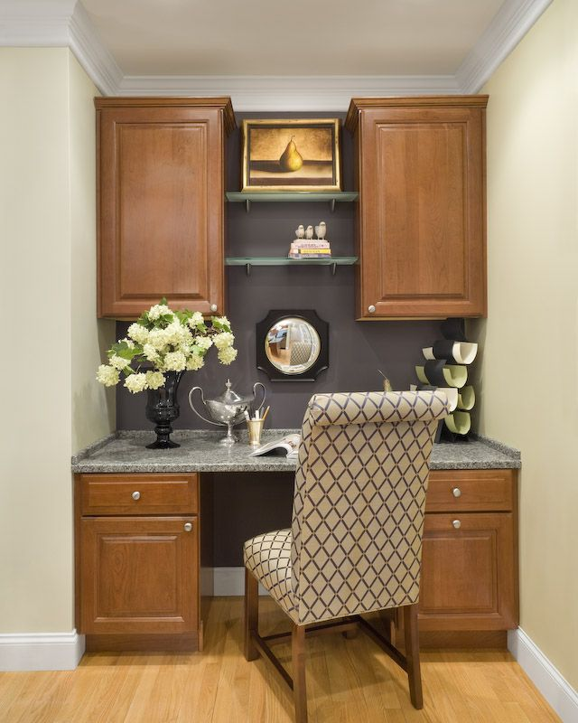 Kitchen desk design for the home pinterest for Desk in kitchen ideas