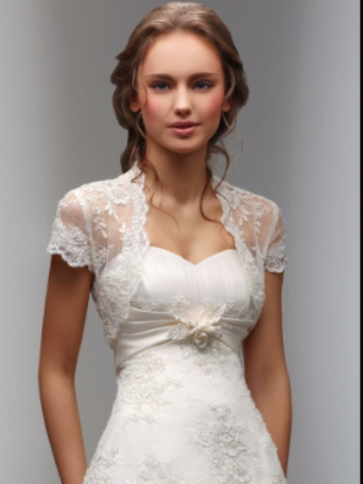 Lace shrug wedding dresses and accessories pinterest for Wedding dress with shrug