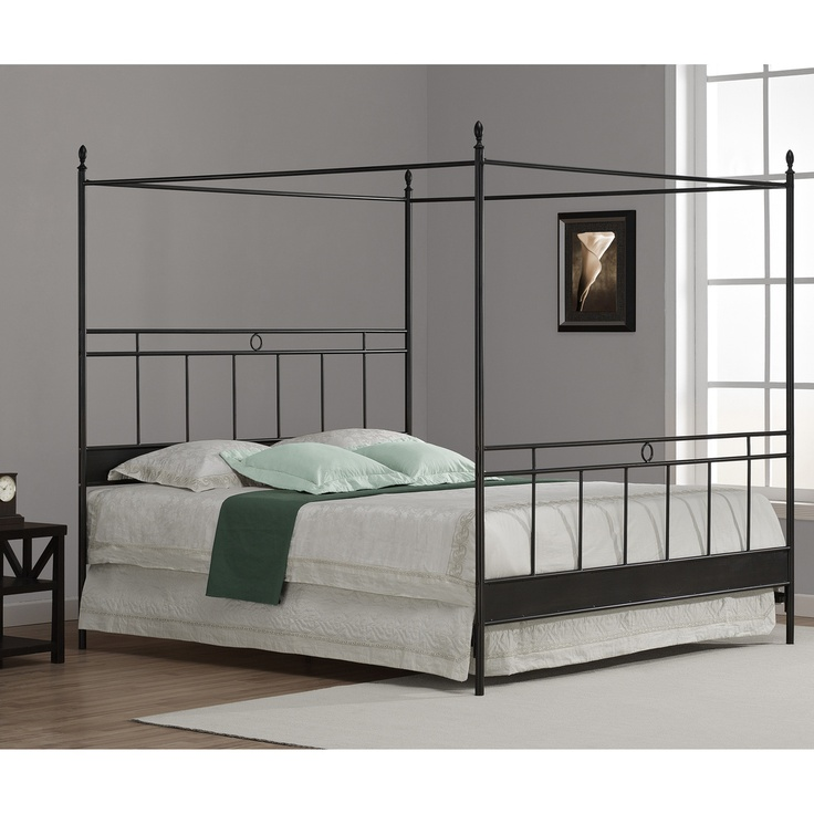 Cara King Metal Canopy Bed