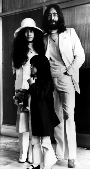 John yoko and kyoko john lennon former member of the beatles with