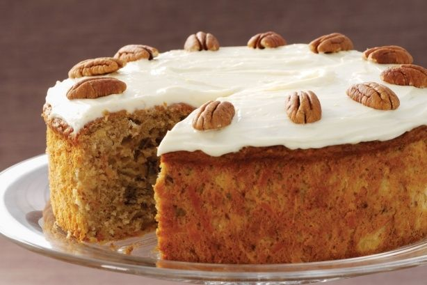 ... cream cheese icing covers this super-moist, restaurant-quality carrot