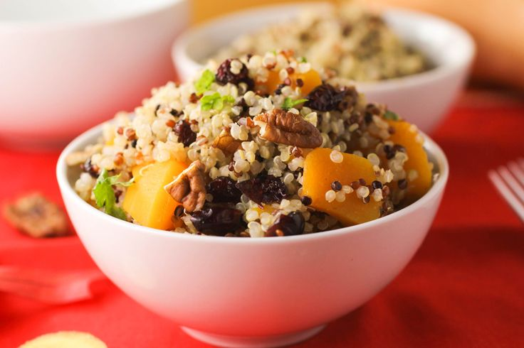 ... Butternut Squash and Quinoa Salad with a warm Apple Cider Vinaigrette