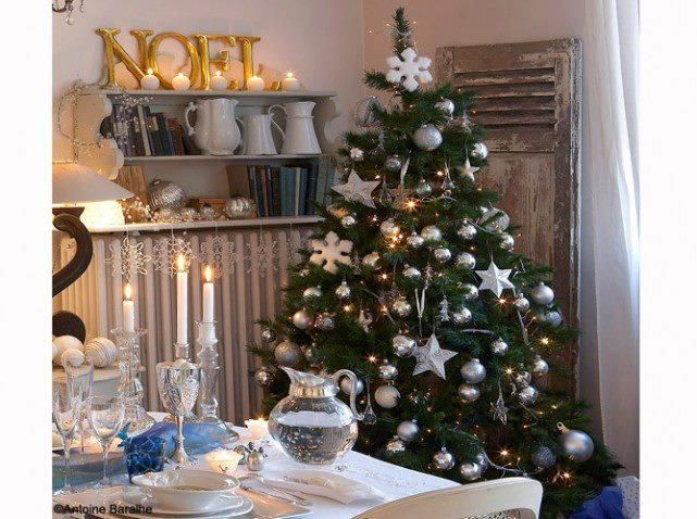 Christmas tree in dining room - rustic  The Beauty of Christmas  Pi ...