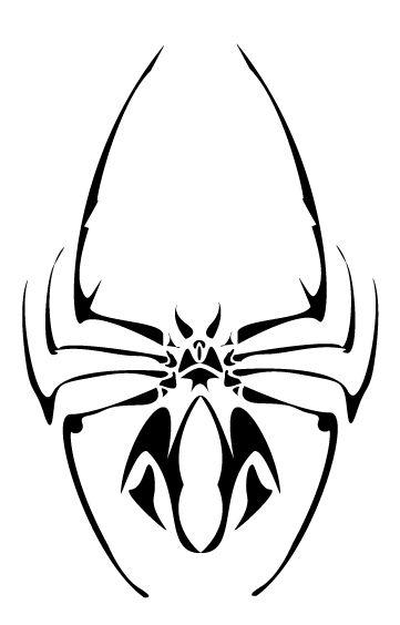 tribal spider tattoos symbols pinterest. Black Bedroom Furniture Sets. Home Design Ideas