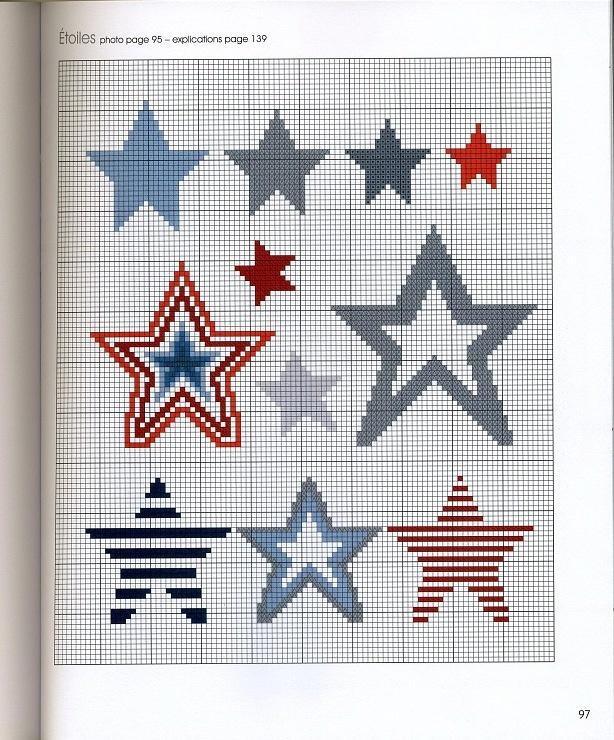 Звезды схемы вышивки 60