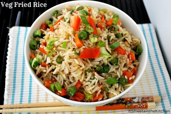 Shweta in the Kitchen: Vegetable Fried Rice {perfect fried rice ...