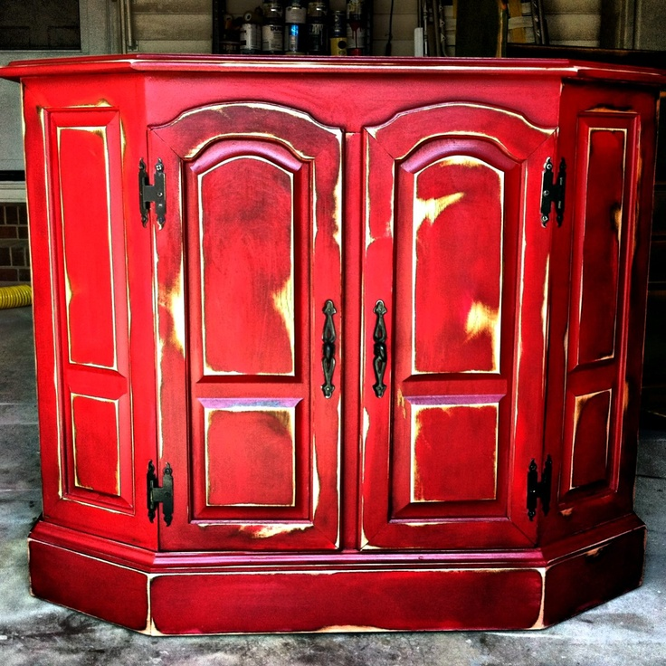 red delicious distressed corner cabinet some of my work pinterest