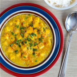 Red Lentil and Tofu Curry - This simple curry recipe has become a ...
