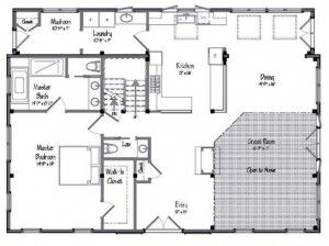 Awesome Open Barn House Floor Plan Barndominiums Pinterest