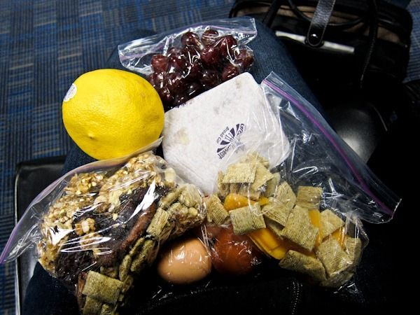 to snack on a road trip: hard-boiled eggs  for the perfect travel protein. Plus cheese + crackers, fruit, trail mix and a breakfast sandwich