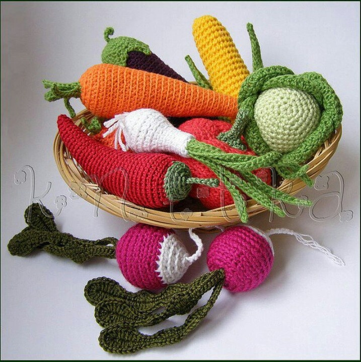 Crochet Patterns Vegetables Free : Vegetables Crochet Pinterest