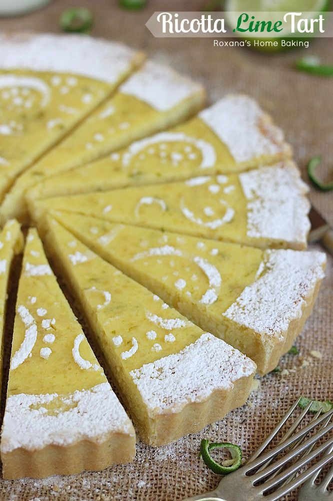 Ricotta lime tart recipe Great recipe though need more lime or lemon ...