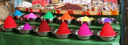 Market stall in  India spices Indian Market Stall