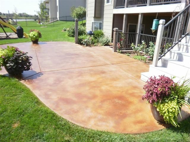 Stained Concrete Patio Outdoor Pinterest