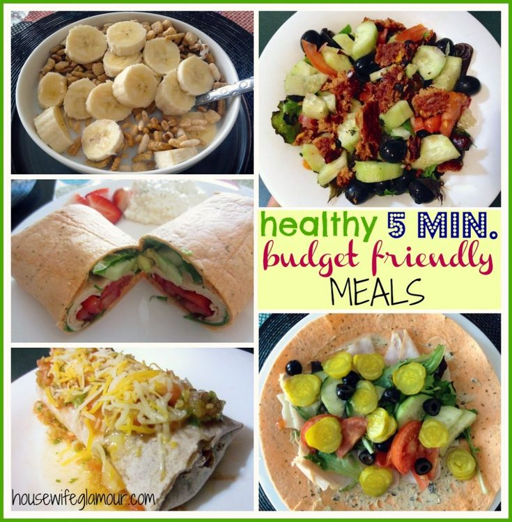 Quick healthy meals on a budget recipes