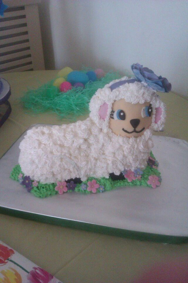 Easter lamb cake | My cakery creation... :) | Pinterest