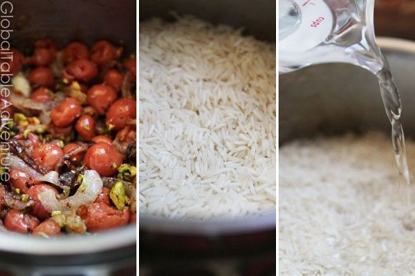 rice with sour cherries persian sour cherry rice البالو پلو ...