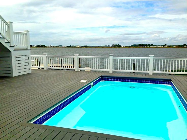 Deck with built in pool home stuff pinterest for House built around pool