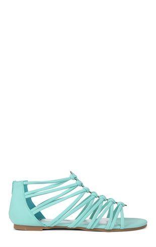 Deb Shops Flat Strappy #Gladiator Sandal  $14.99