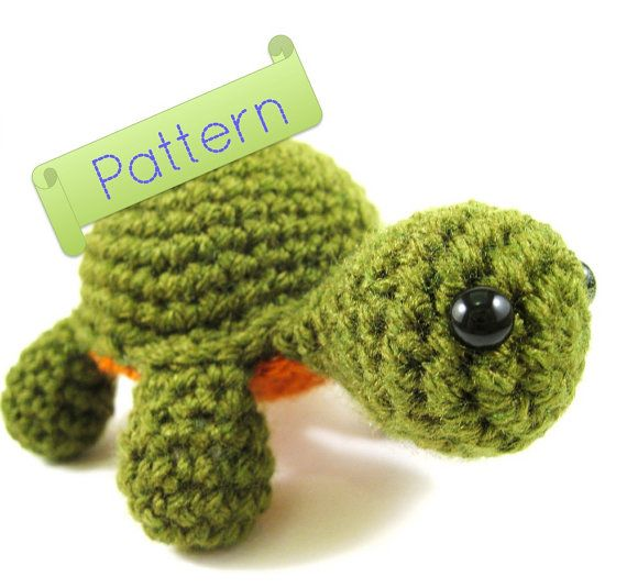 Crochet Patterns Turtle : Amigurumi Turtle Pattern by CarriageHouseFriends on Etsy, $2.50
