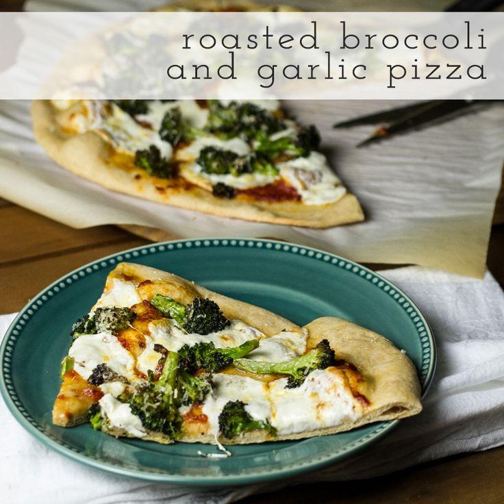roasted broccoli & garlic pizza // chattavore