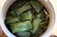 Vegetarian Banana Leaf Tamales | Recipe