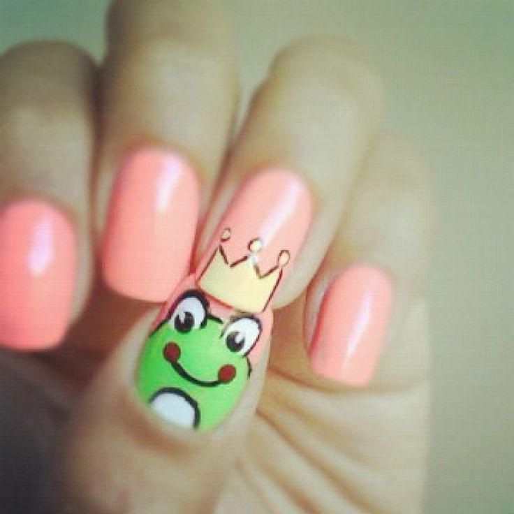 frog prince nail art