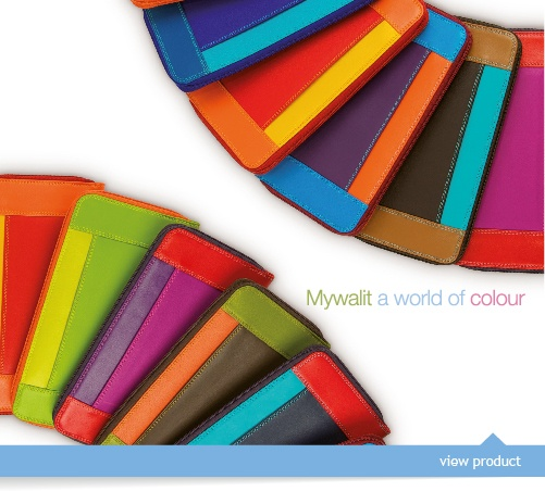 Beautiful, colorful wallets in many styles