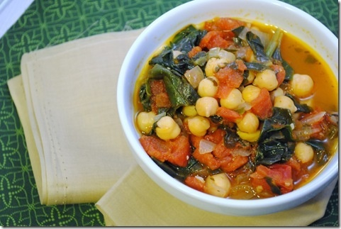 Spanish Chickpea and Spinach Stew   Yummy!   Pinterest