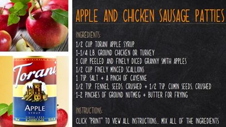 Apple and Chicken Sausage Patties | Autumn Apple | Pinterest