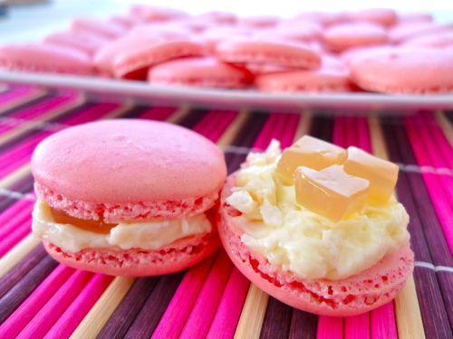 Lychee Mascarpone and Emperor's Seven Treasures Macarons
