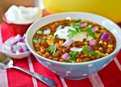 Summer Vegetable Chili with a scoop of Plain CHO? Sign us up.