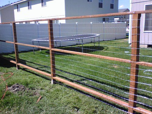 Great dog fencing house ideas pinterest for Cheap fencing
