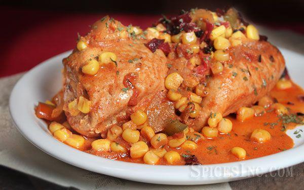 Cajun Chicken Maque Choux | recipes | Pinterest