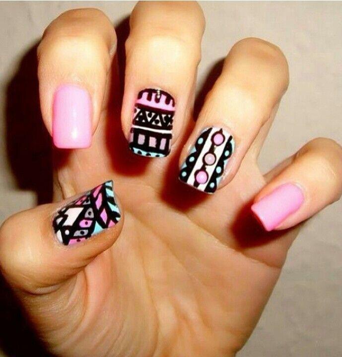 Pattern nail art | Nailed it | Pinterest
