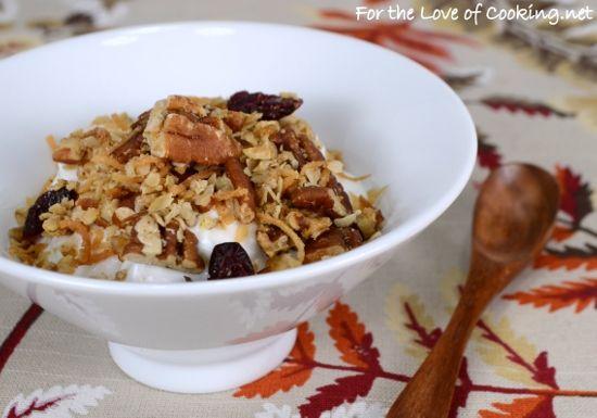 Pecan, Coconut, and Cherry Granola | Breakfast foods | Pinterest