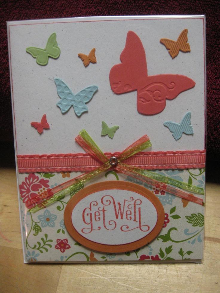 Stampin Up Butterflies Get Well Card Handmade Cards