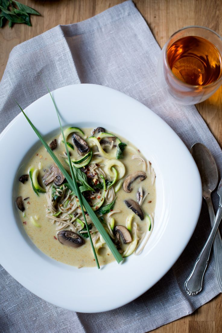 Lemongrass Coconut Soup {Vegan} - Earthy Feast coconut milk, zucchini ...