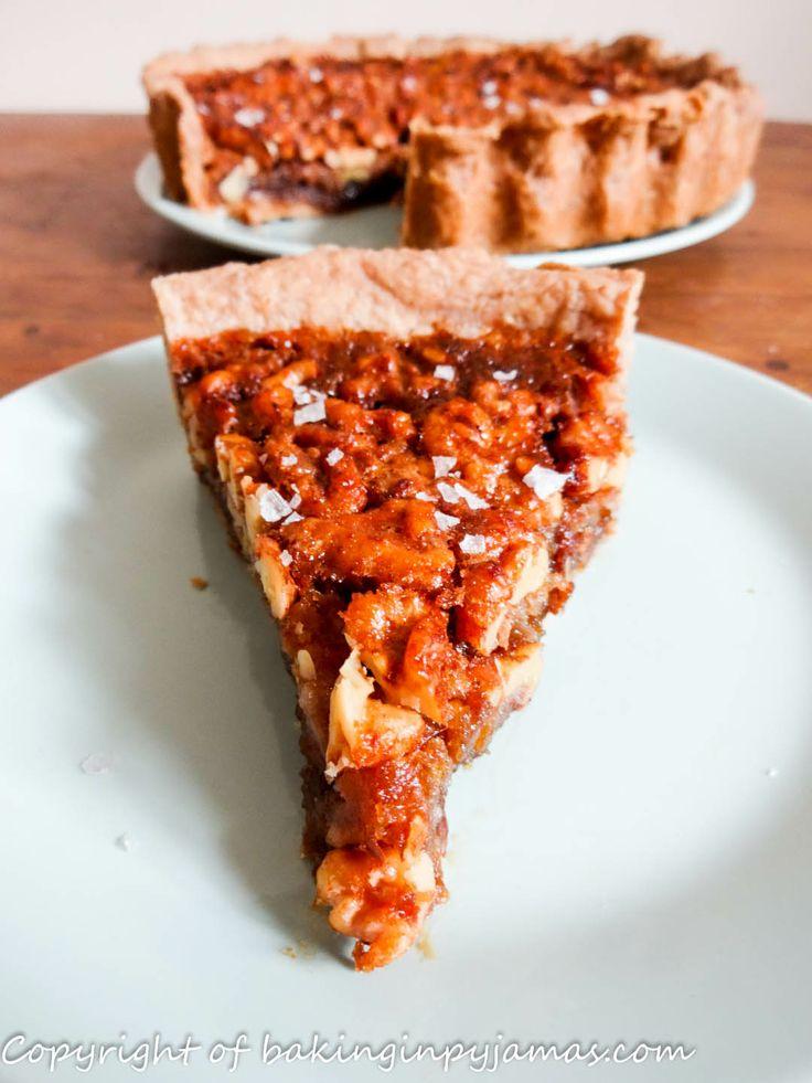 Salted Honey-Walnut Pie@Baking in Pyjamas