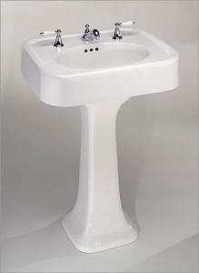 Replacing A Pedestal Sink With A Vanity : Pedestal Sink