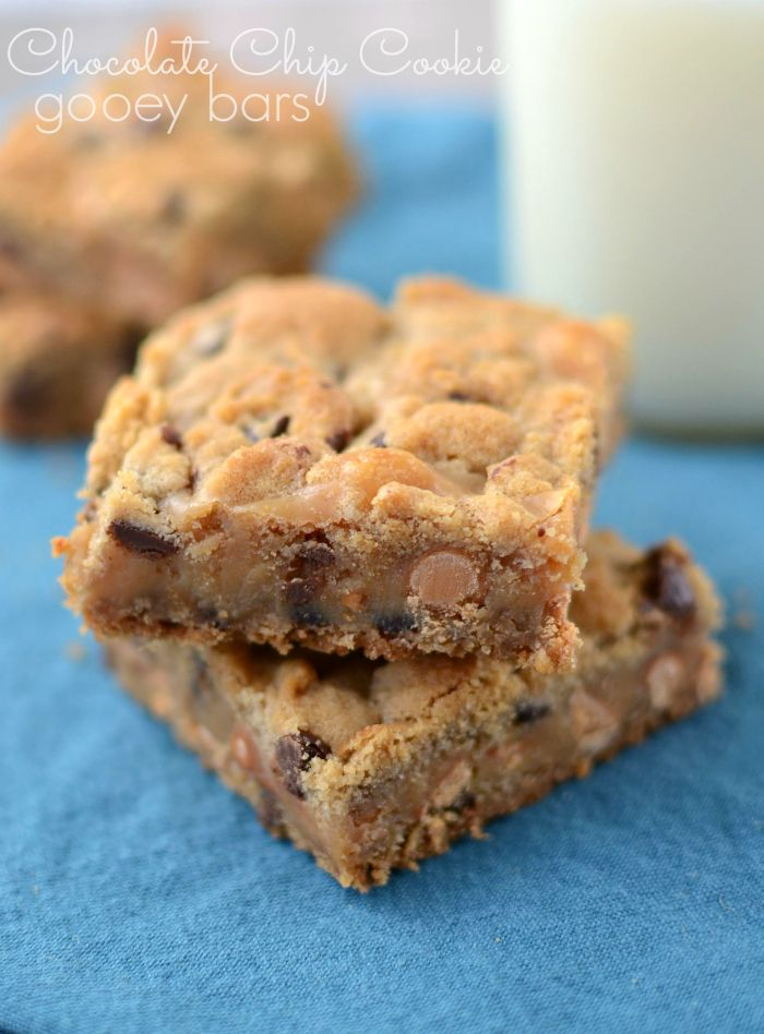 Chocolate Chip Cookie Gooey Bars | Sweets | Pinterest