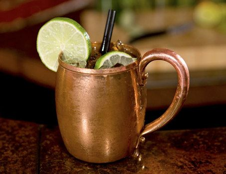 Moscow Mule - one of my favorite drinks - 1 teaspoon grated ginger, 2 ...