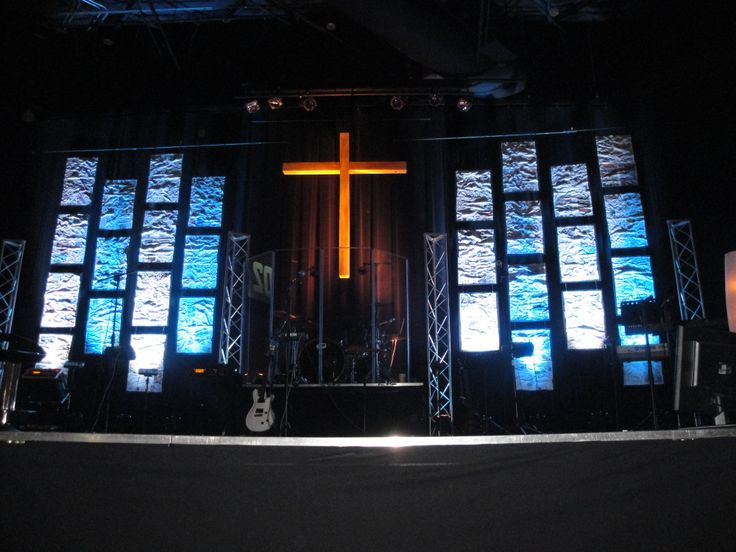 Stage lighting at Pathway Church