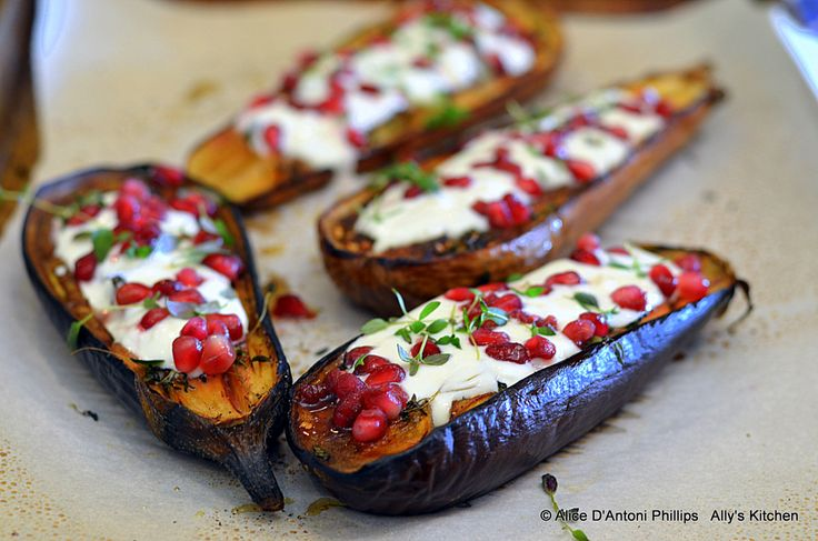 Eggplant with Buttermilk Sauce | Healthy Holiday Dishes | Pinterest